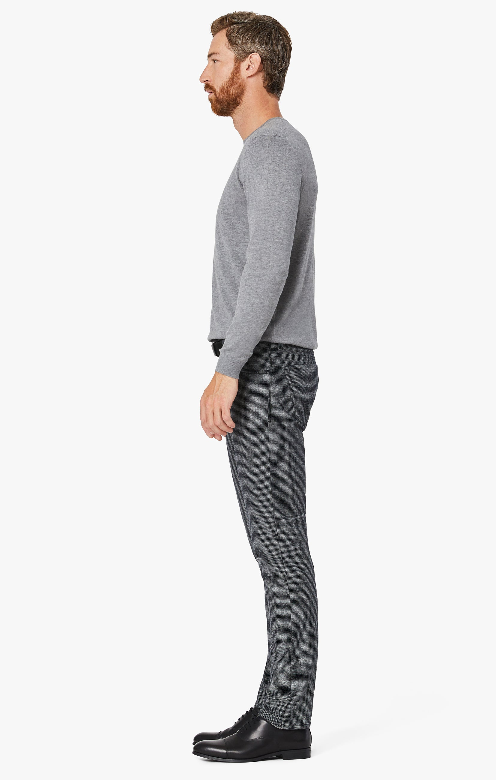 Courage Straight Leg Pants In Grey Houndstooth Image 5