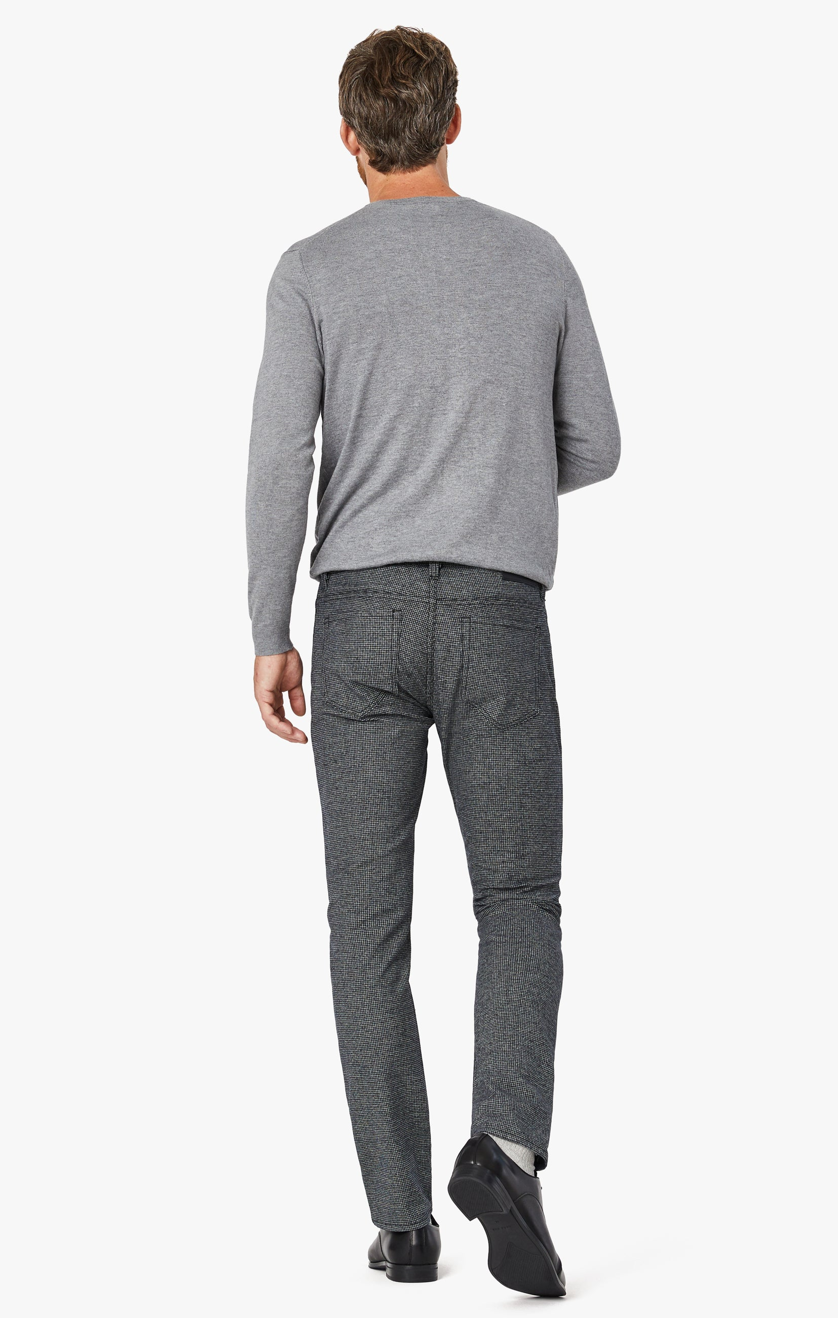 Courage Straight Leg Pants In Grey Houndstooth Image 6