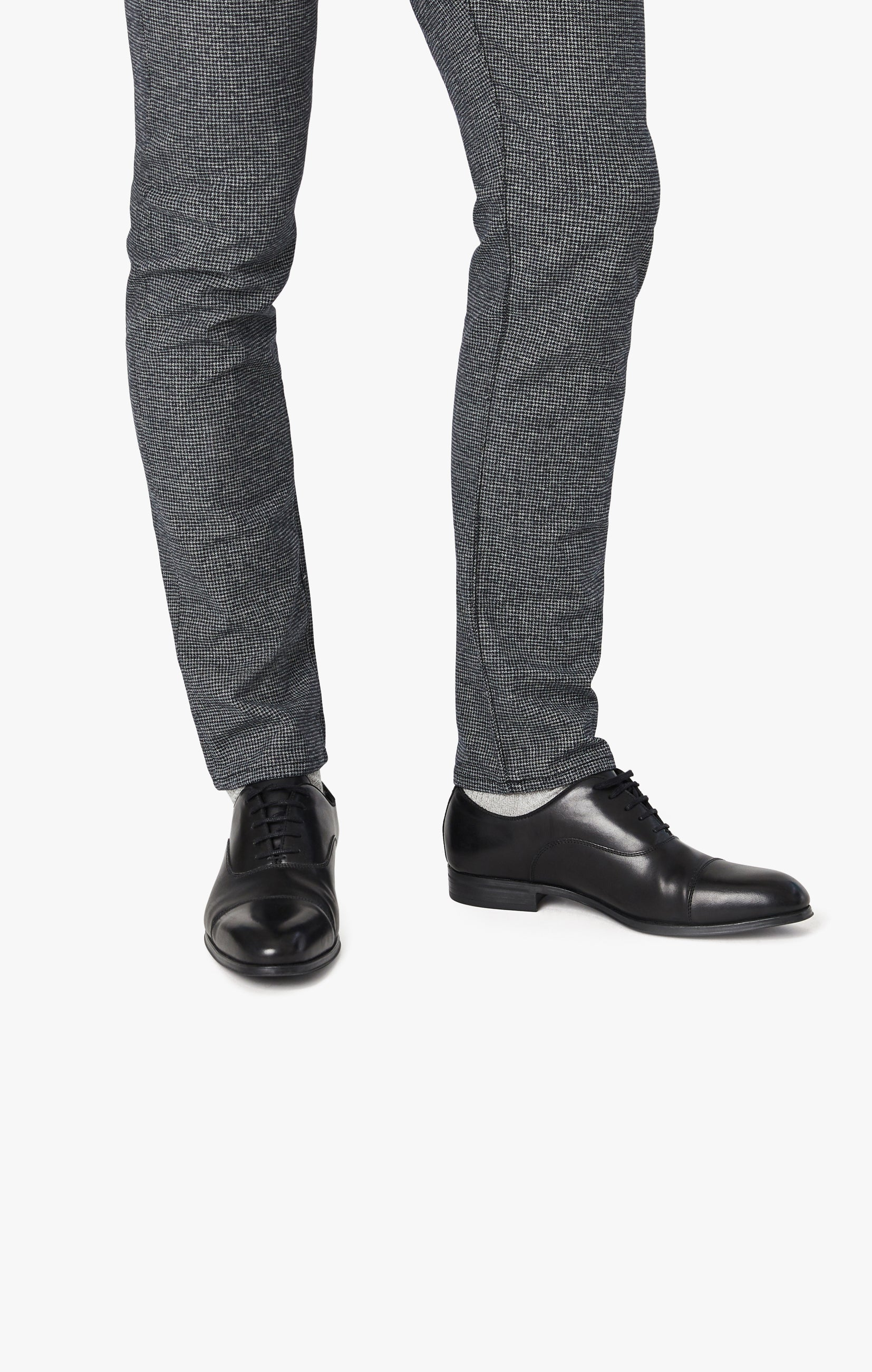 Courage Straight Leg Pants In Grey Houndstooth Image 3