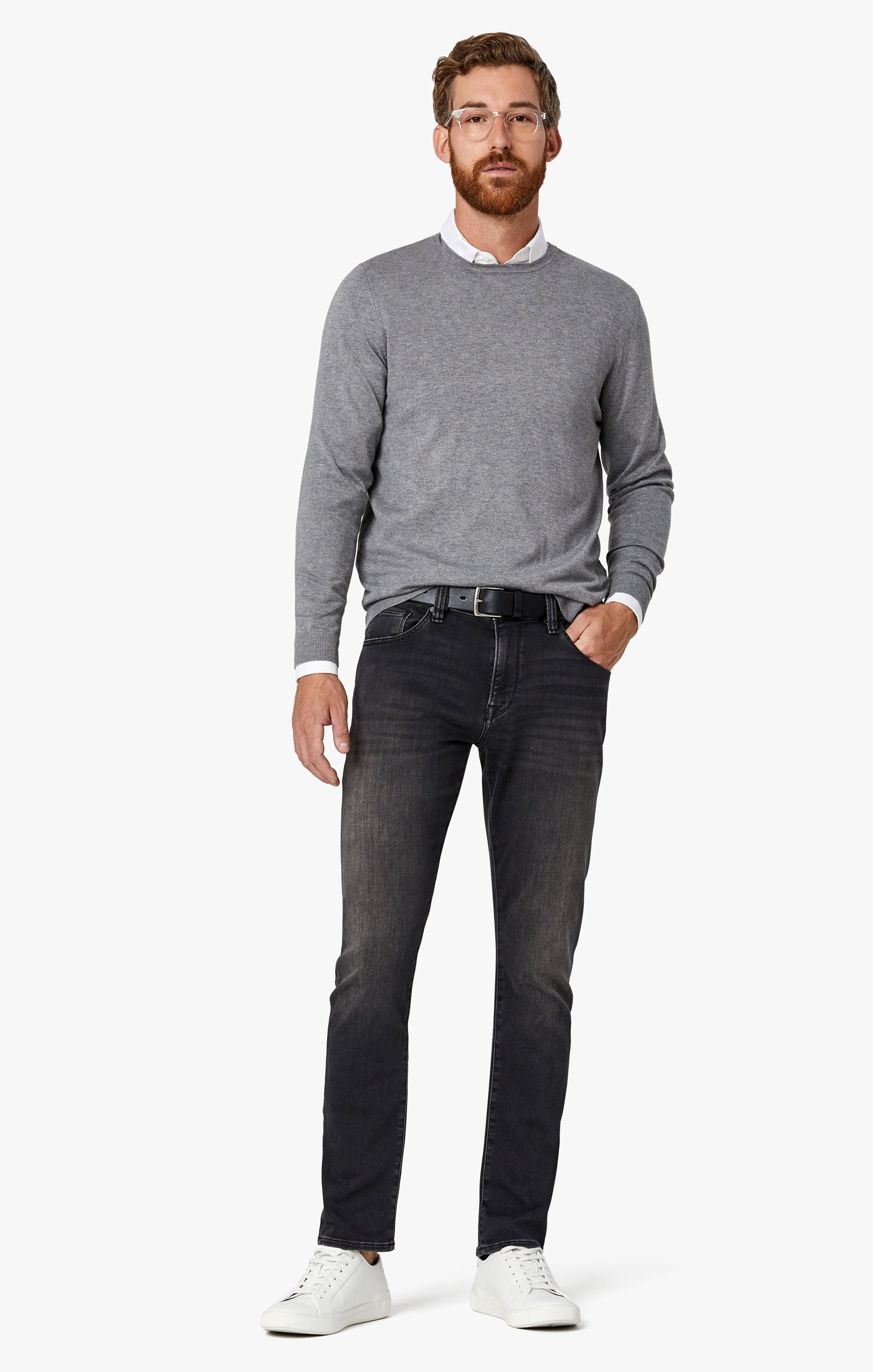 Courage Straight Leg Jeans in Mid Smoke Smart Casual Image 8