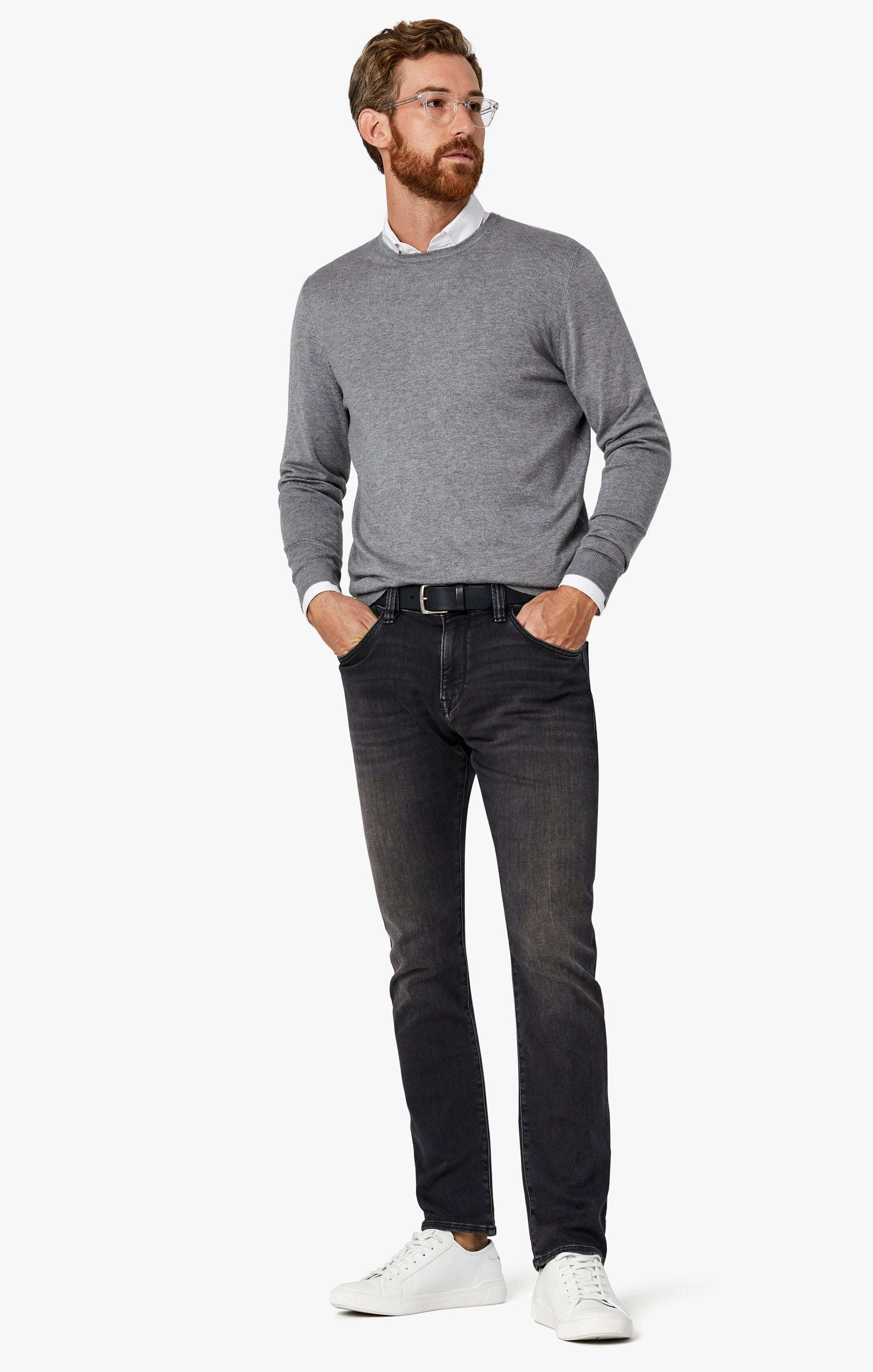 Courage Straight Leg Jeans in Mid Smoke Smart Casual Image 3