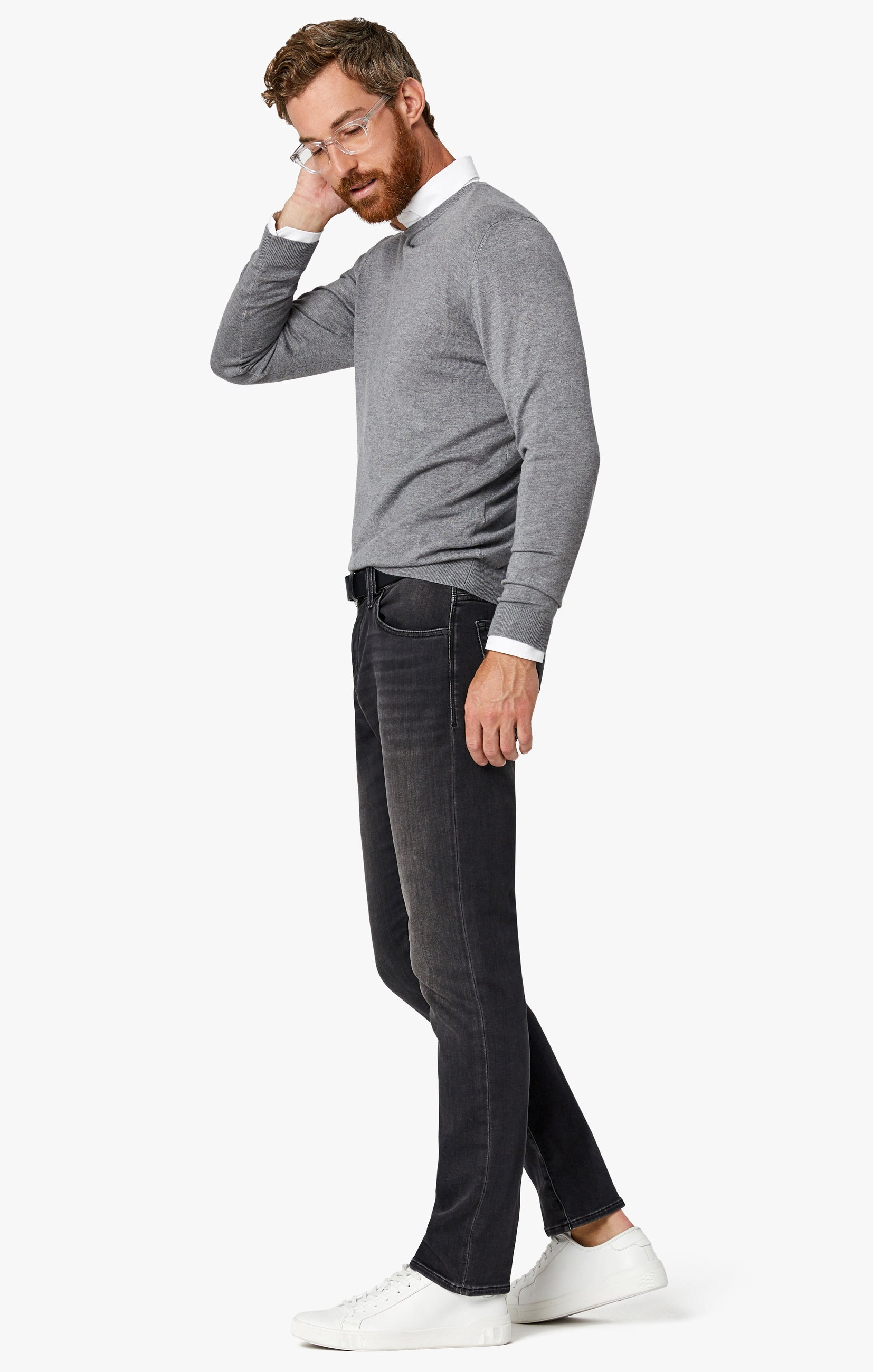 Courage Straight Leg Jeans in Mid Smoke Smart Casual Image 2