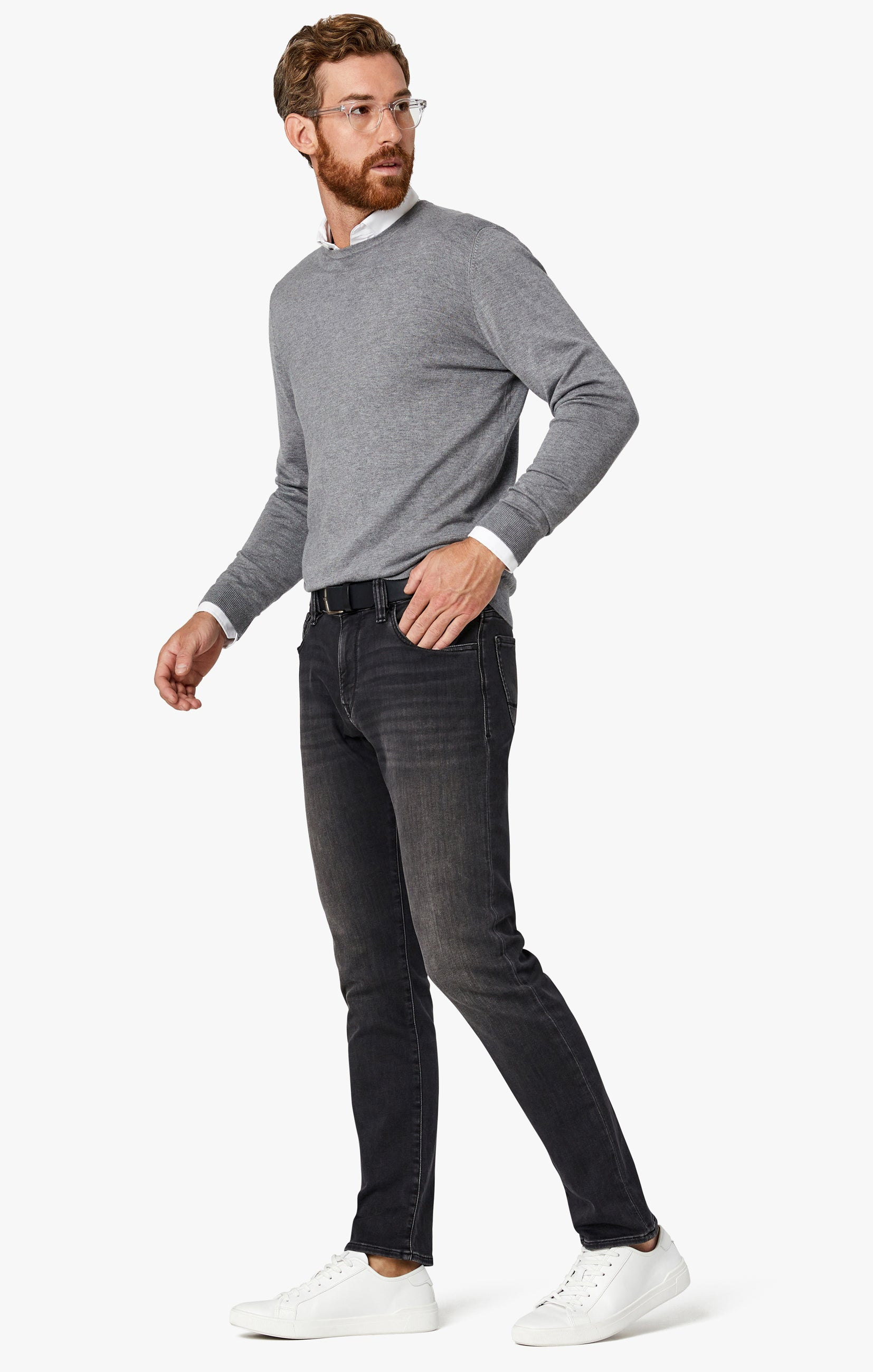 Courage Straight Leg Jeans in Mid Smoke Smart Casual Image 1