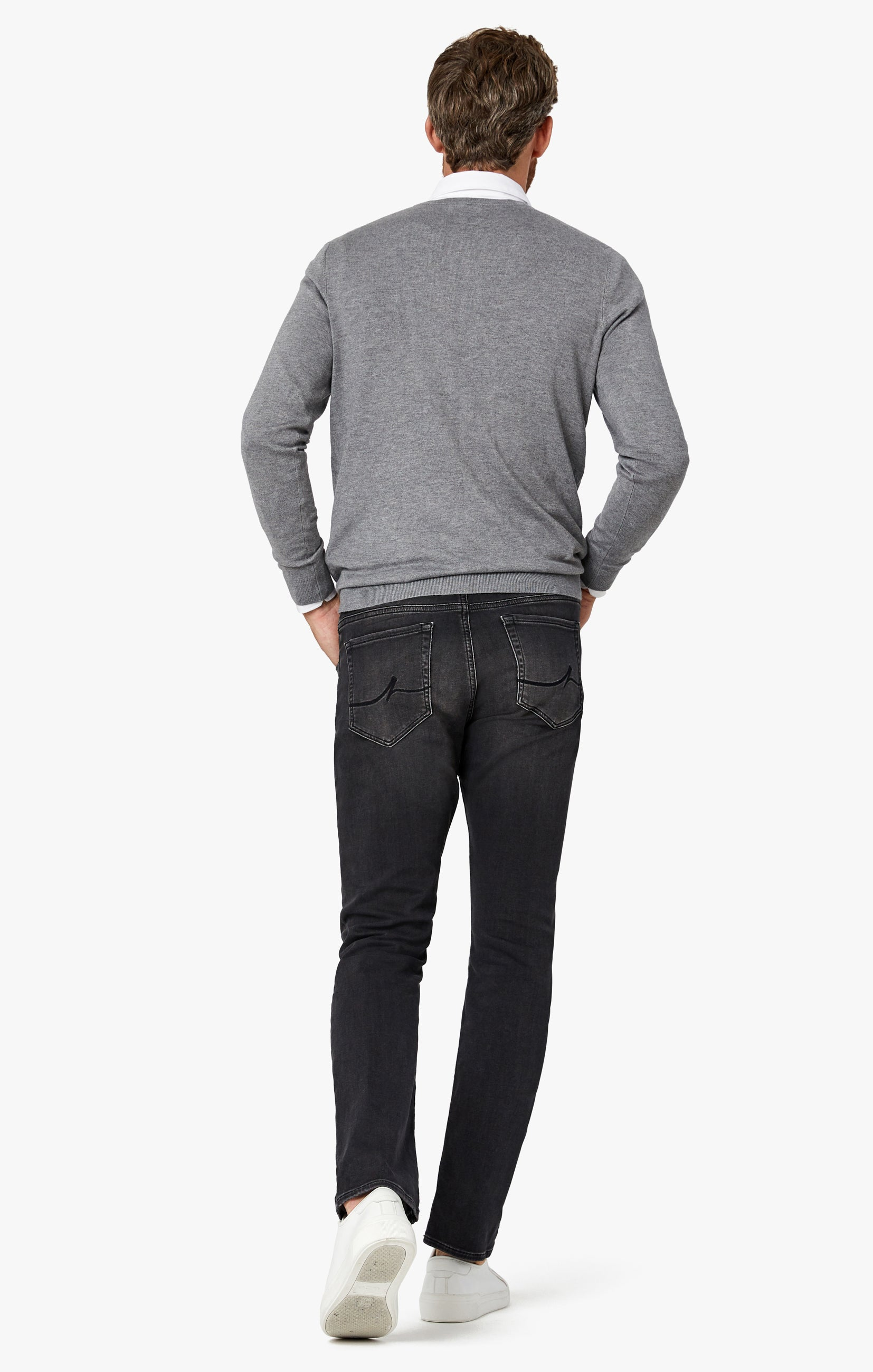 Courage Straight Leg Jeans in Mid Smoke Smart Casual Image 4