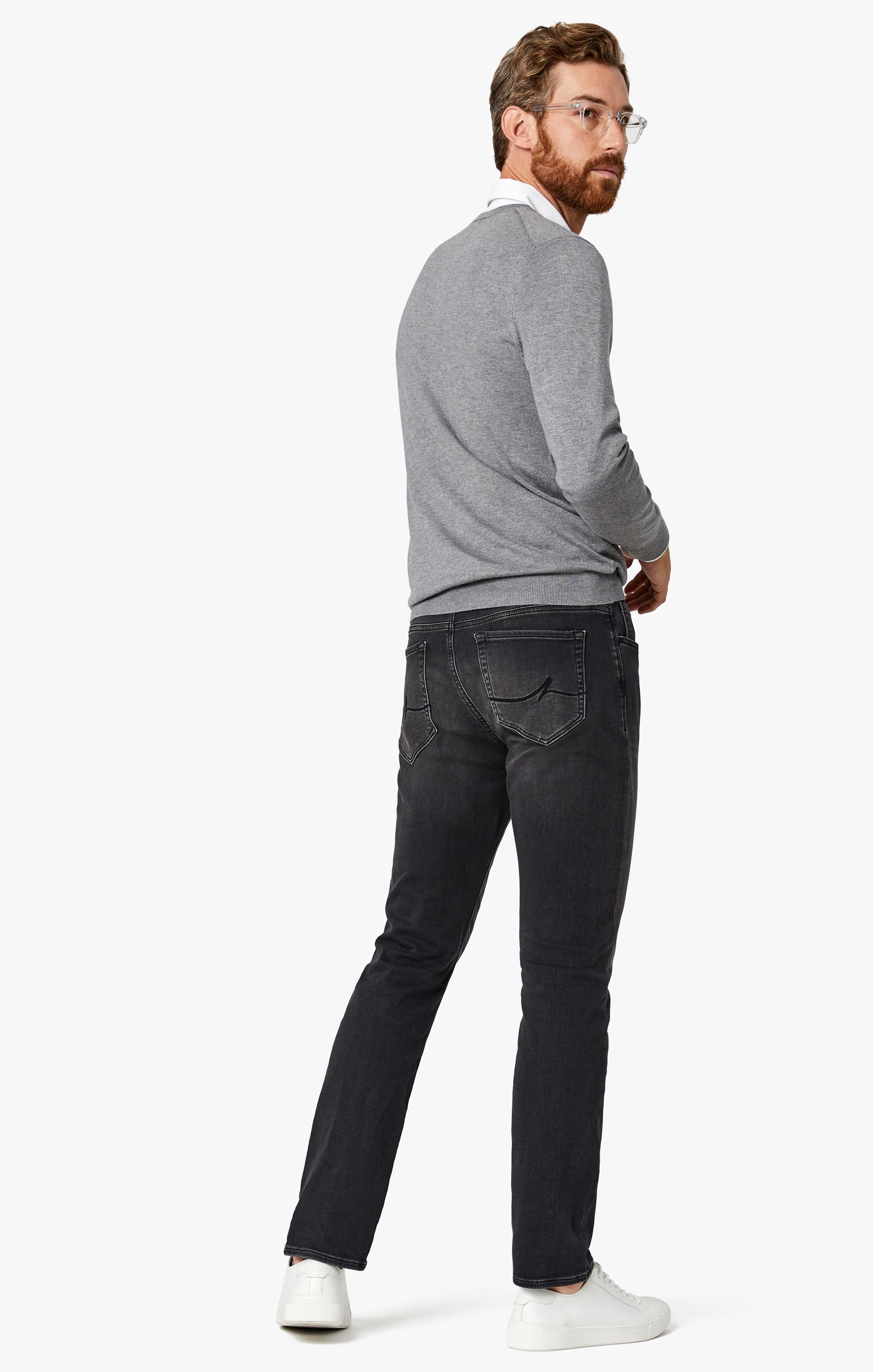 Courage Straight Leg Jeans in Mid Smoke Smart Casual Image 9