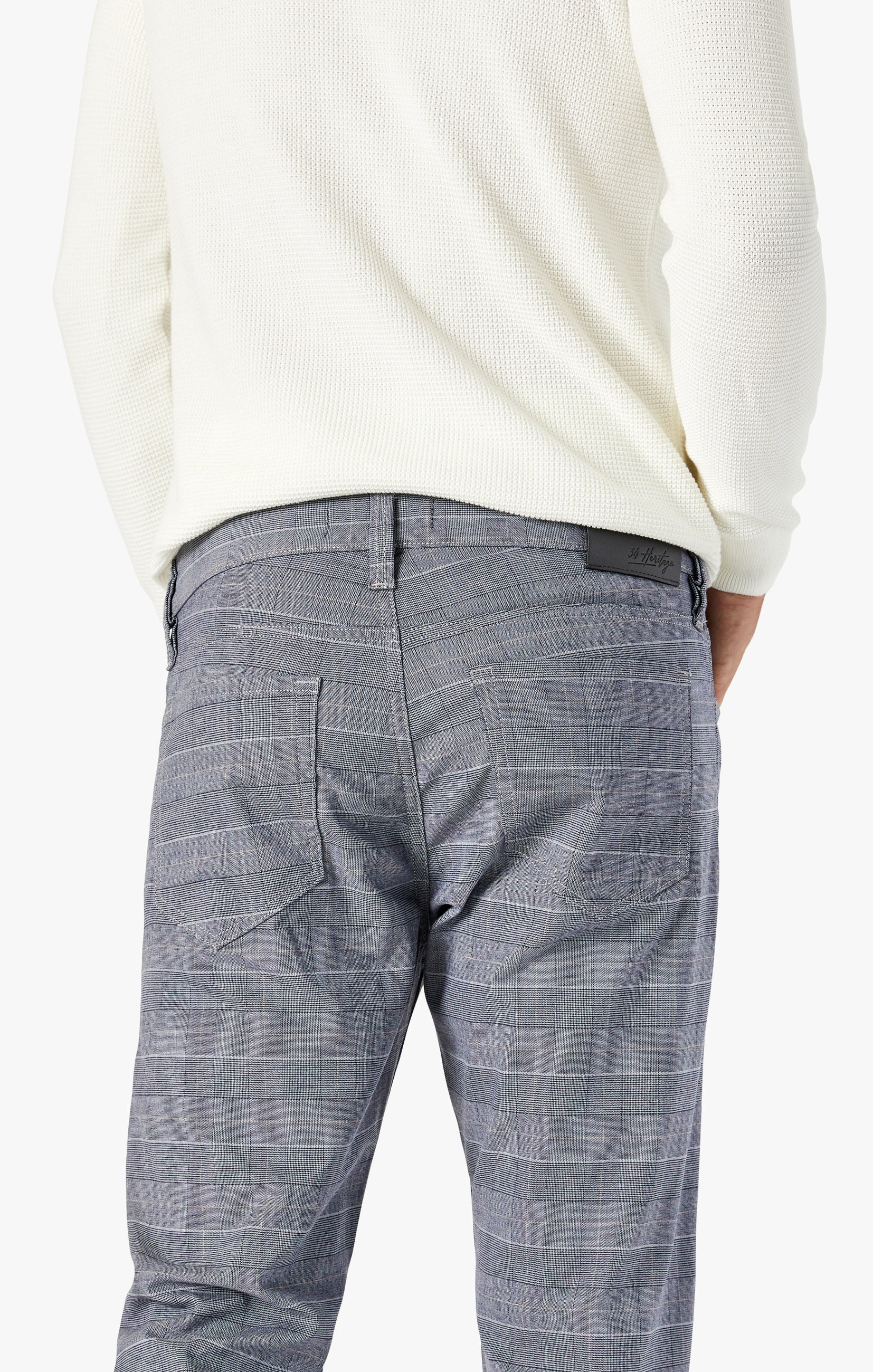 Courage Straight Leg Pants In Anthracite Checked Image 5