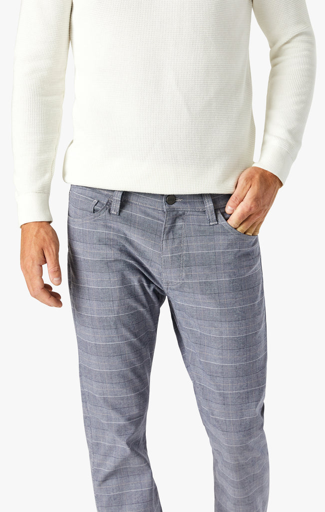 Courage Straight Leg Pants In Anthracite Checked