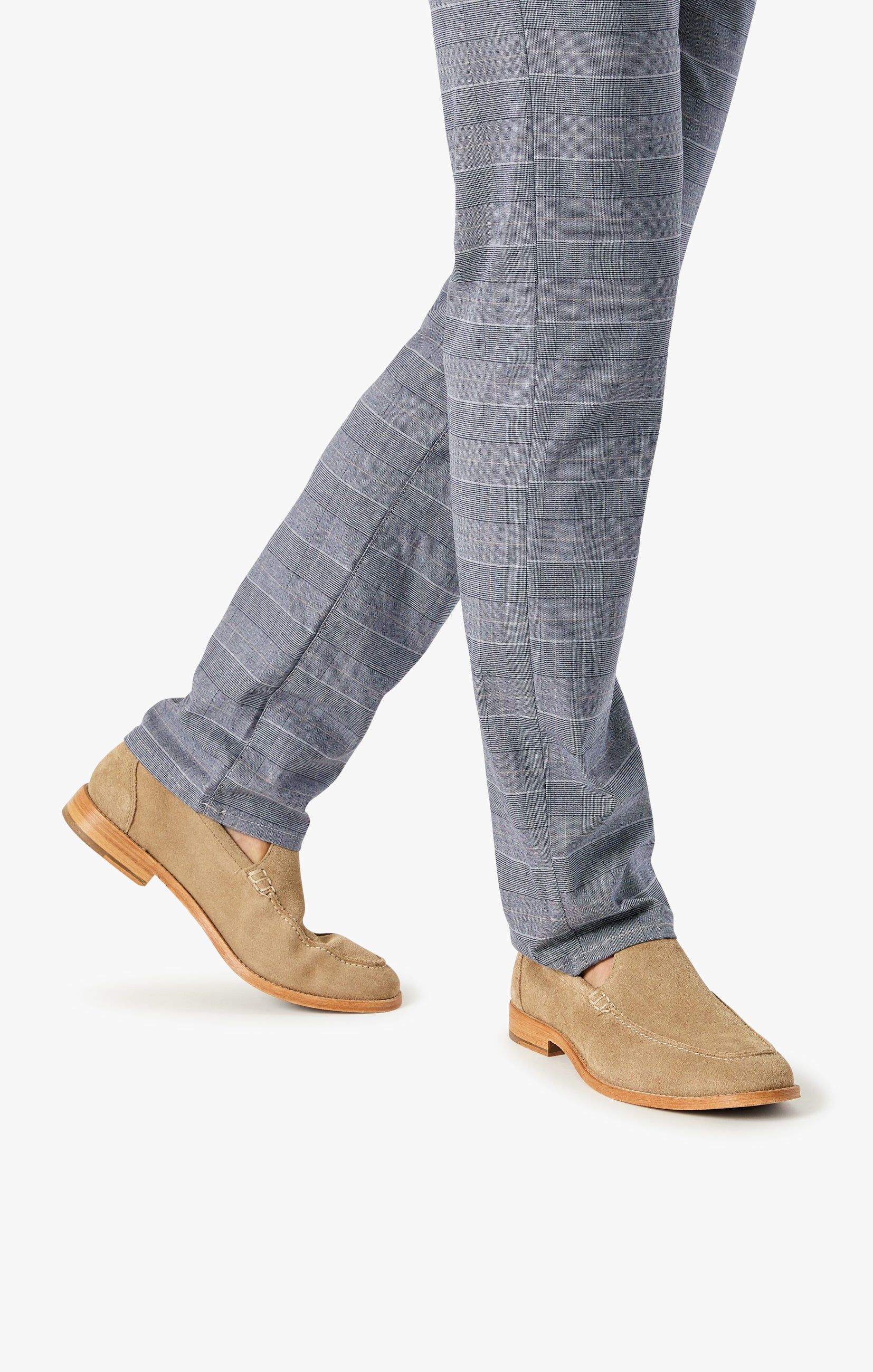 Courage Straight Leg Pants In Anthracite Checked Image 8