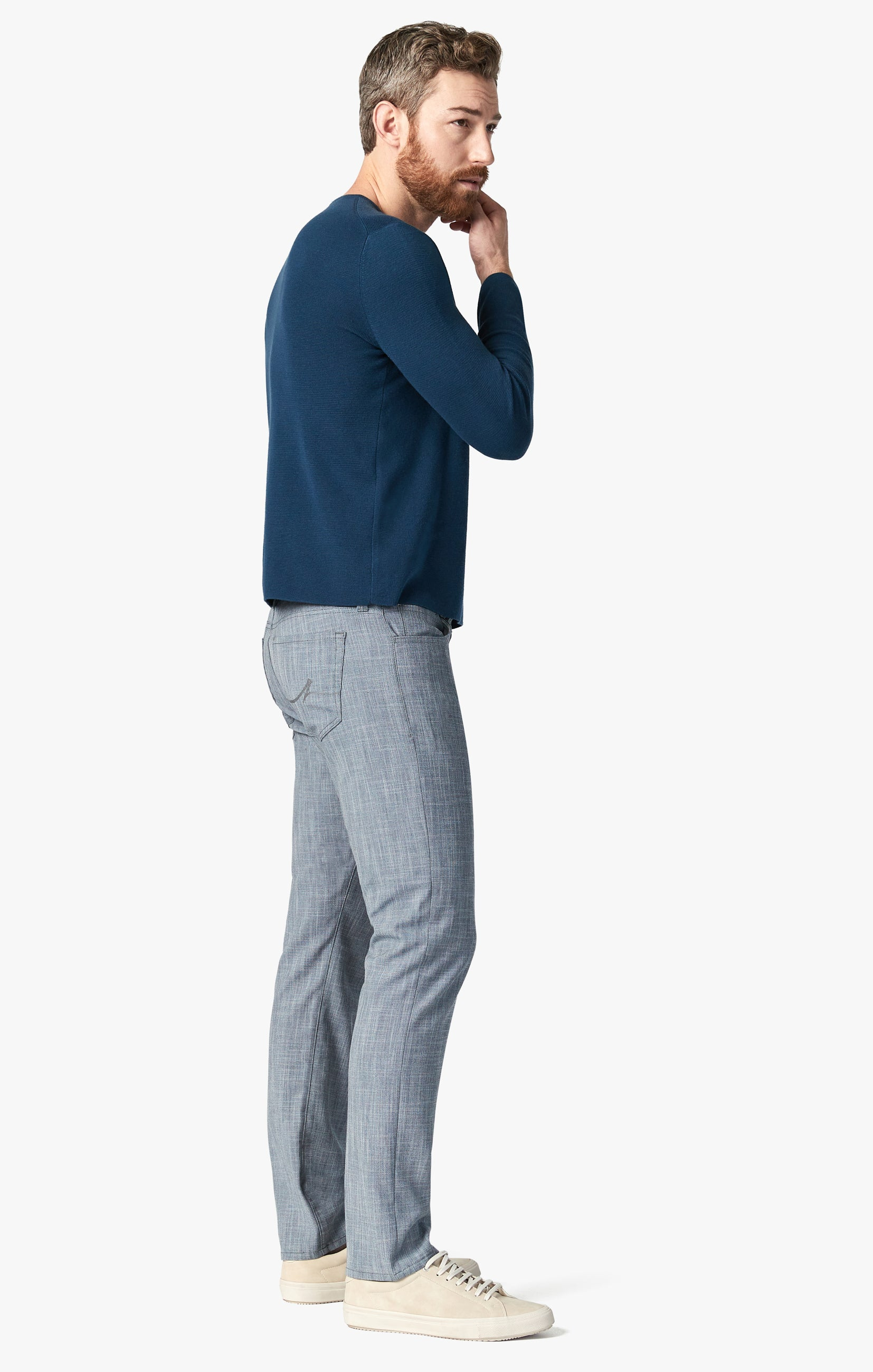 Courage Straight Leg Pants In Grey Cross Twill Image 2