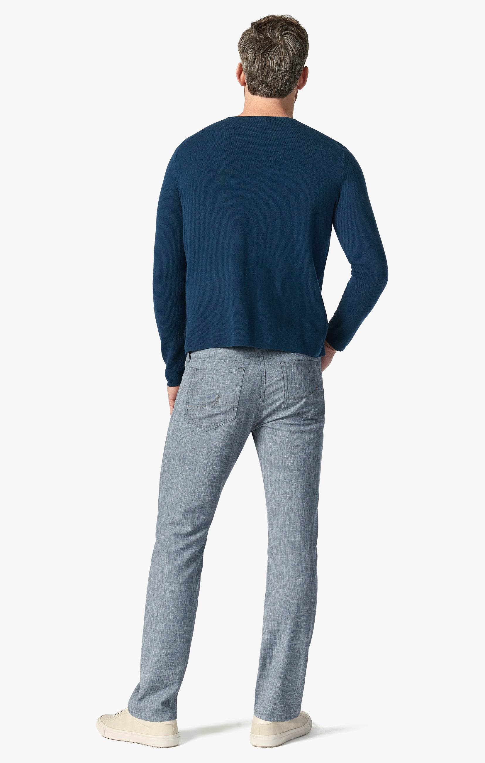 Courage Straight Leg Pants In Grey Cross Twill Image 4