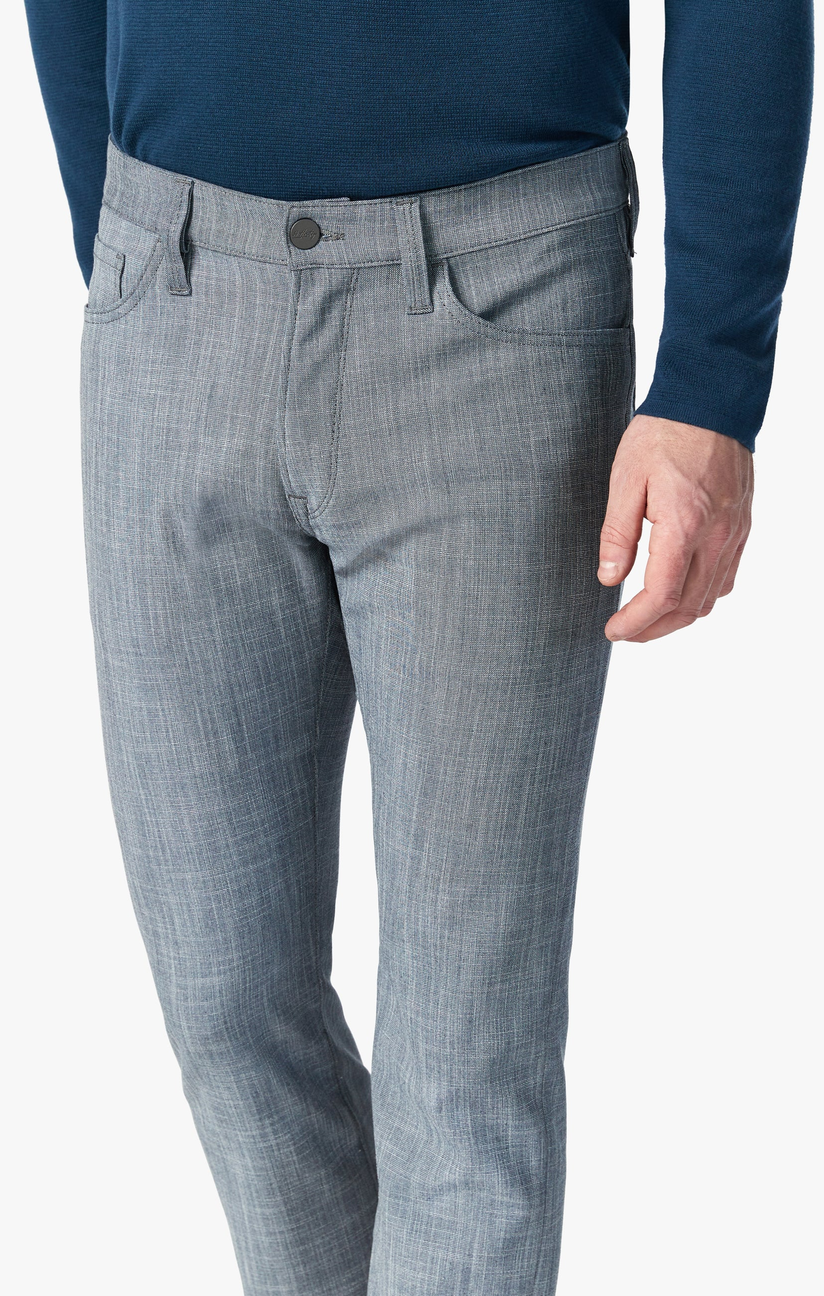 Courage Straight Leg Pants In Grey Cross Twill Image 6