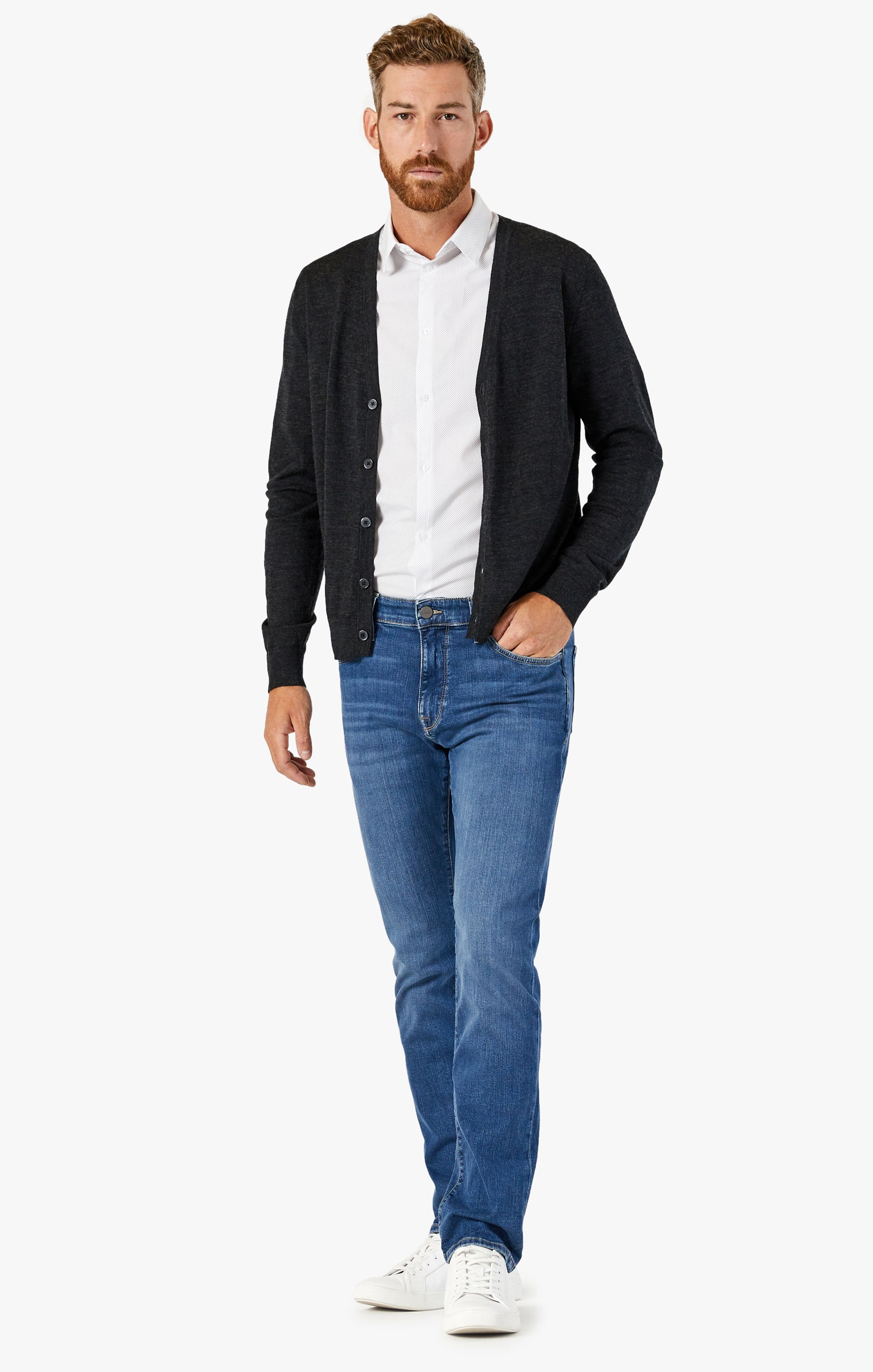 Courage Straight Leg Jeans In Mid Soft Image 1