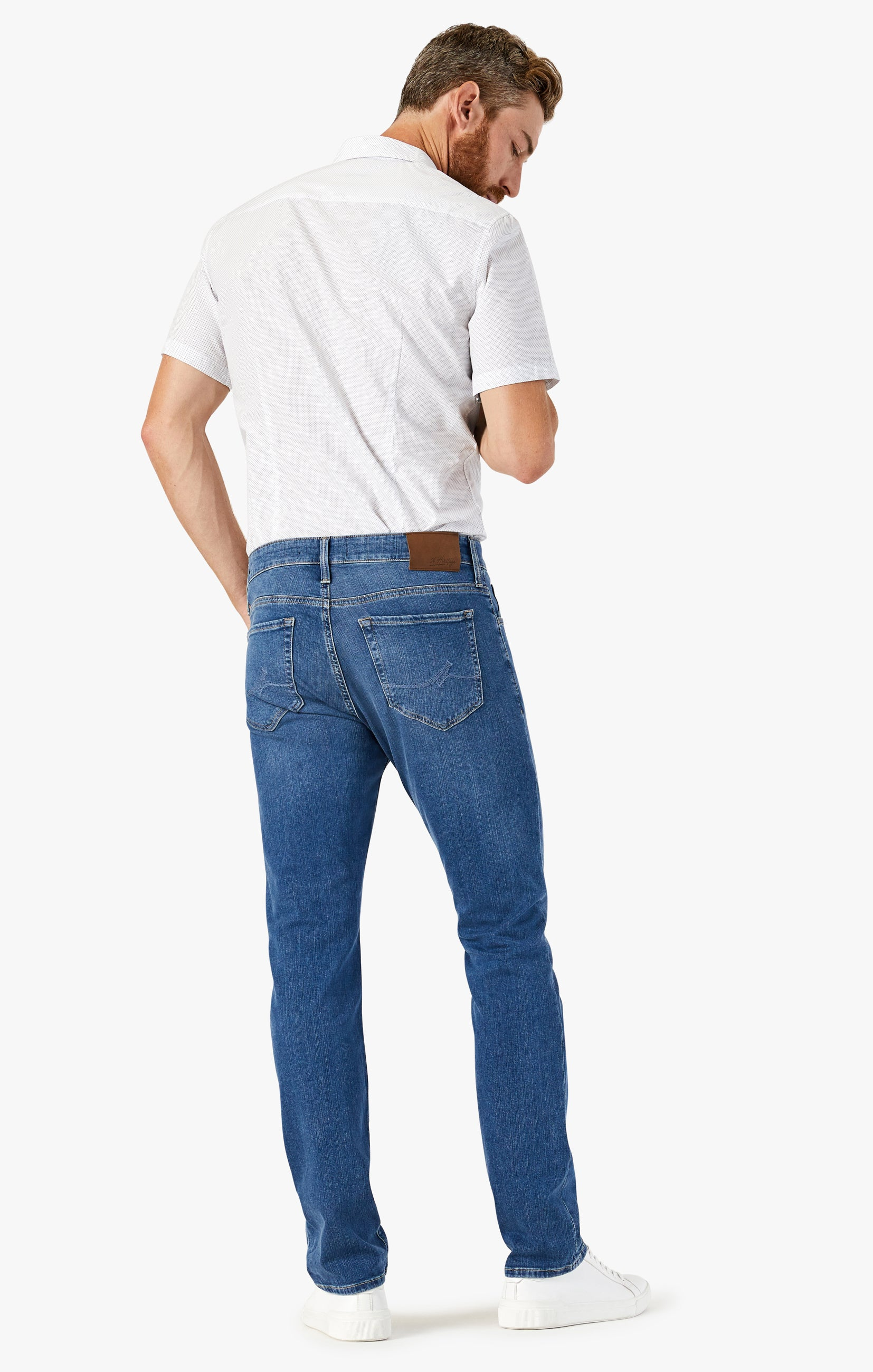 Courage Straight Leg Jeans In Mid Soft Image 2