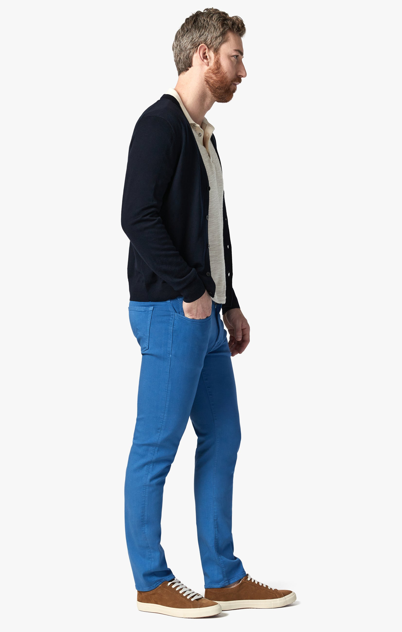Courage Straight Leg Pants In Royal Comfort Image 2