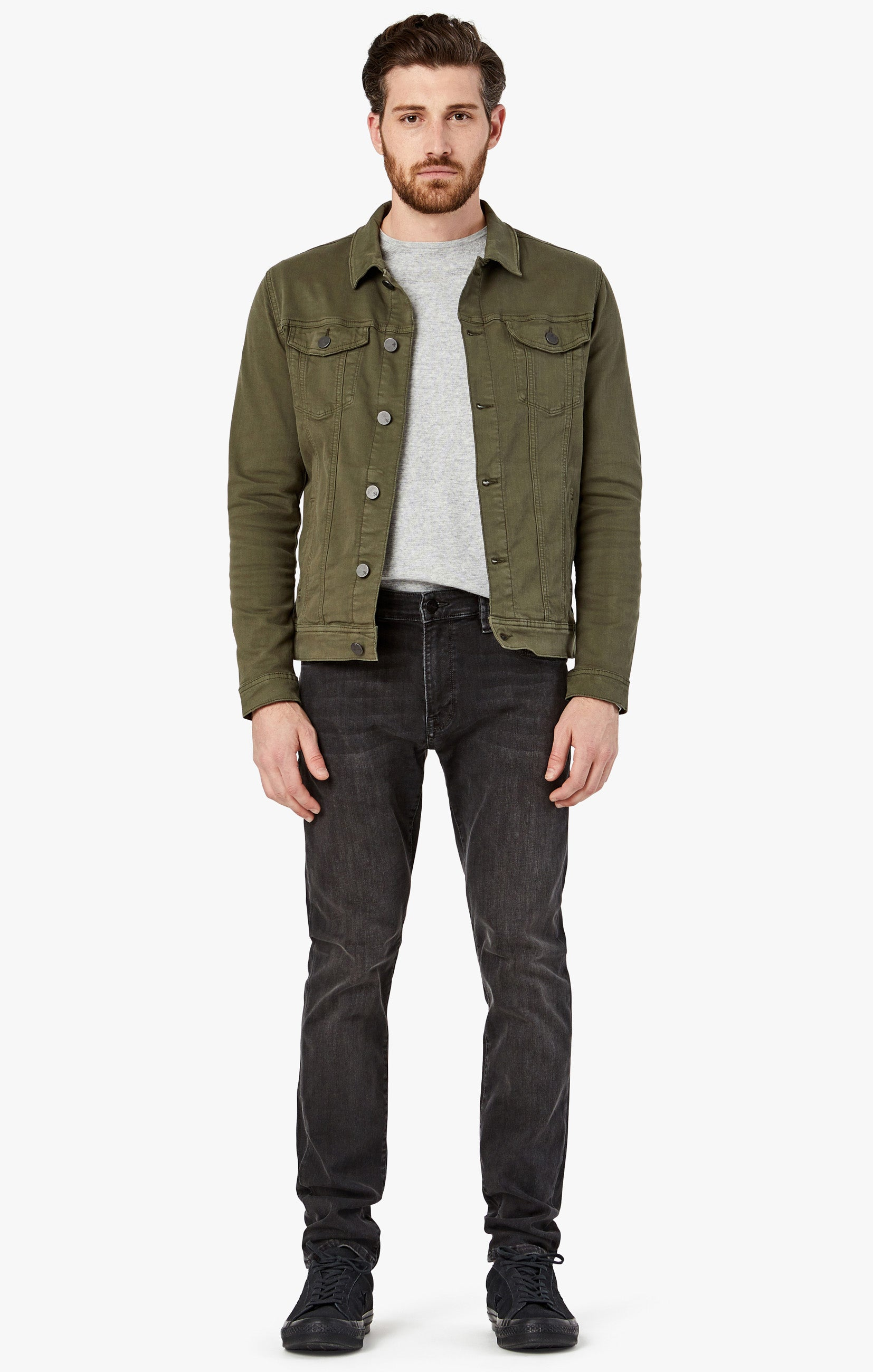 Travis Jacket In Olive Twill Image 6