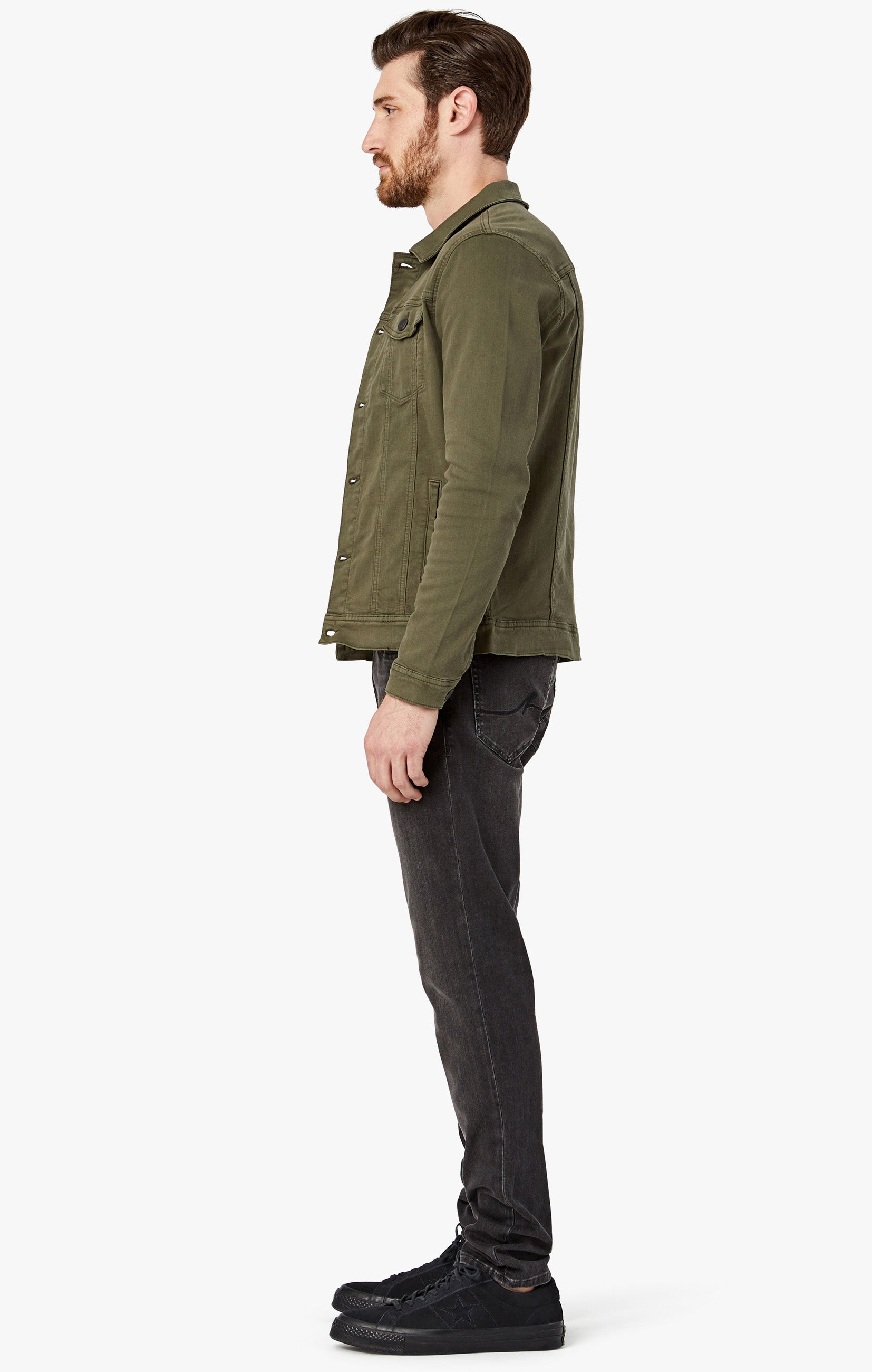 Travis Jacket In Olive Twill Image 7