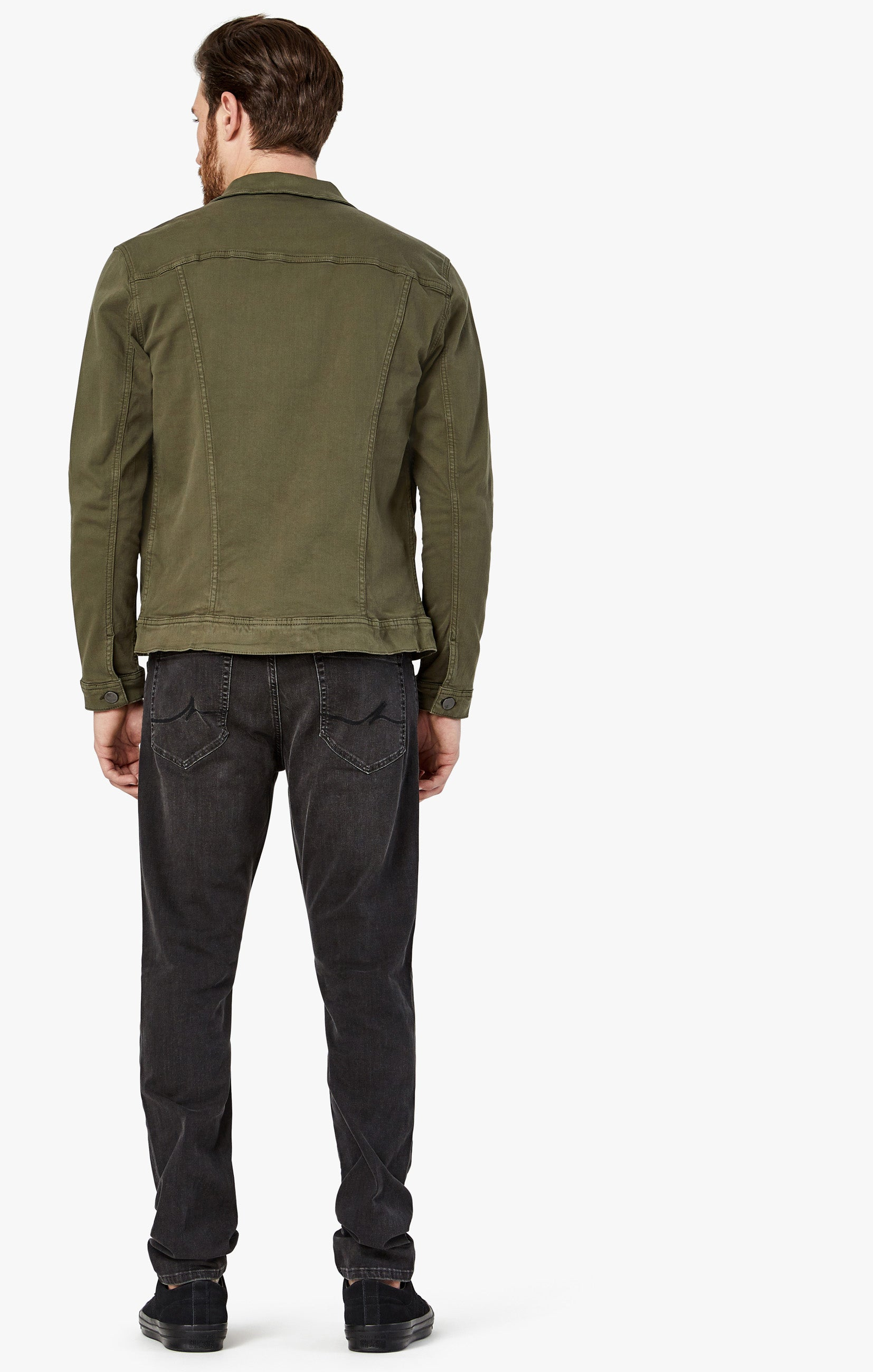 Travis Jacket In Olive Twill Image 8