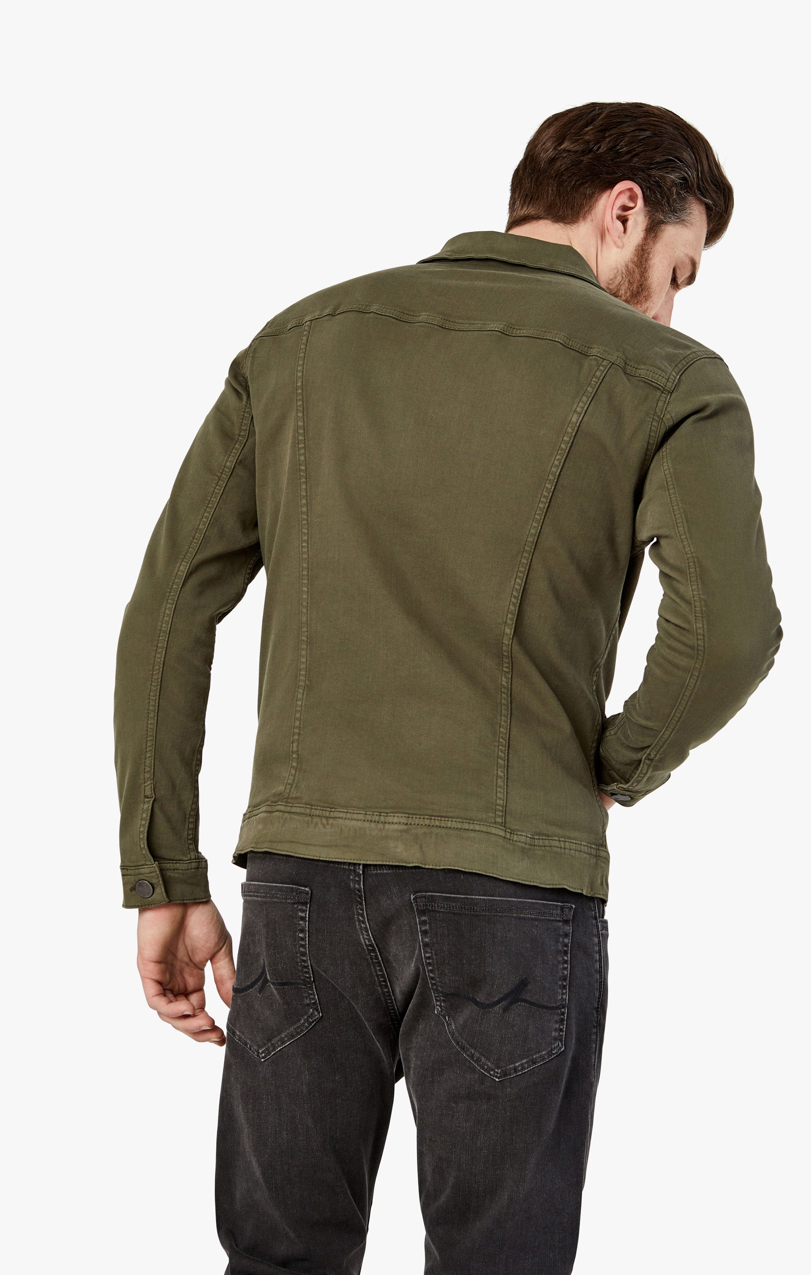 Travis Jacket In Olive Twill Image 2
