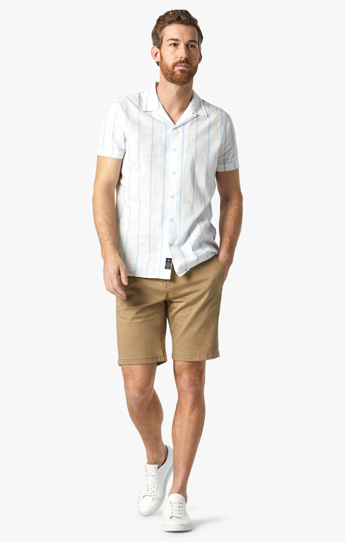 Nevada Shorts In Khaki Twill