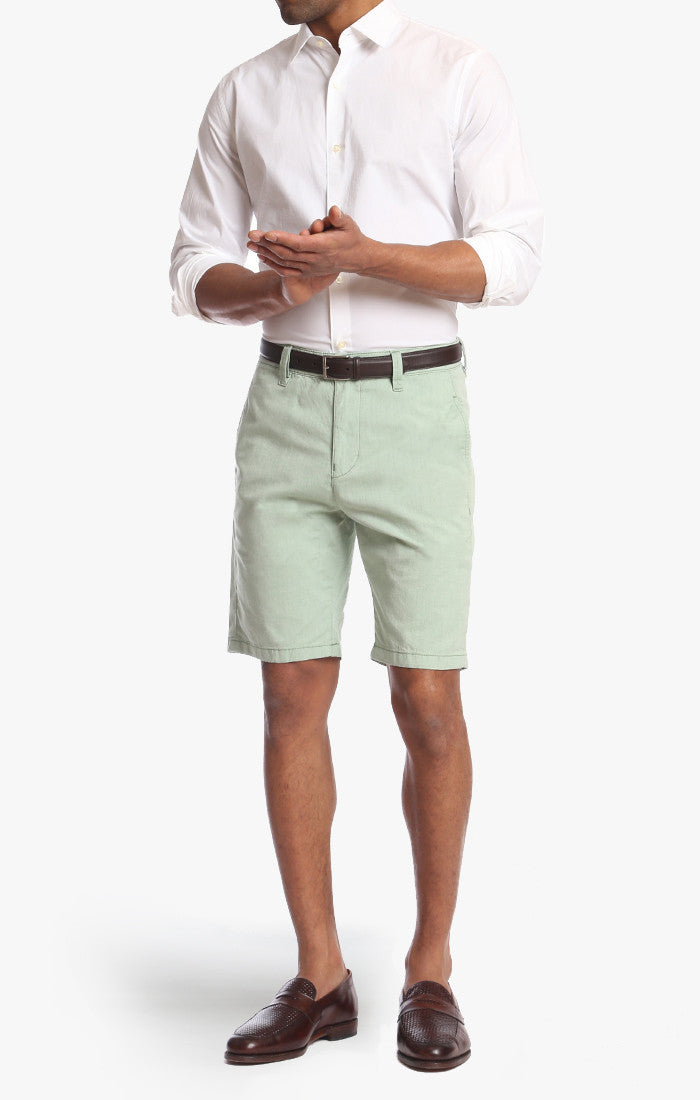 Nevada Shorts In Green Dot Twill - 34 Heritage