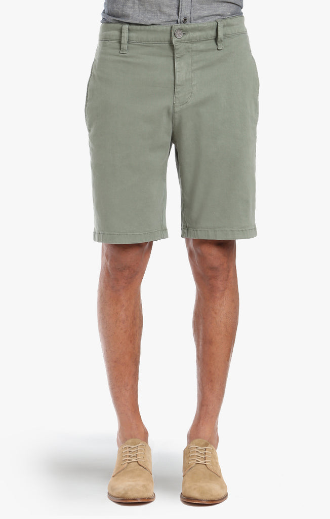 Nevada Shorts In Moss Twill - 34 Heritage