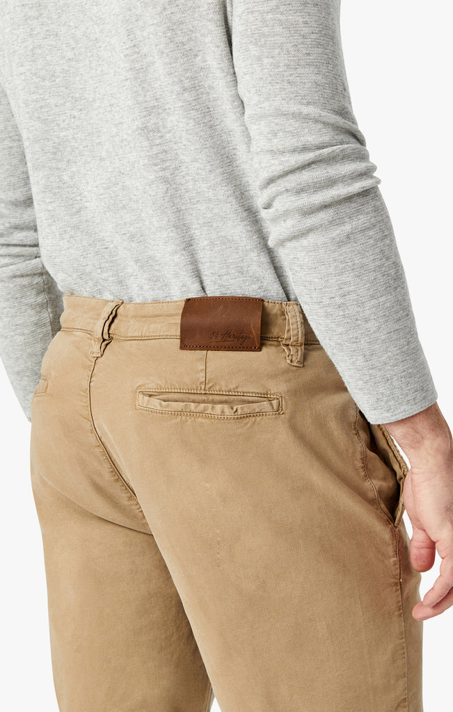 Nevada Shorts In Khaki Soft Touch - 34 Heritage