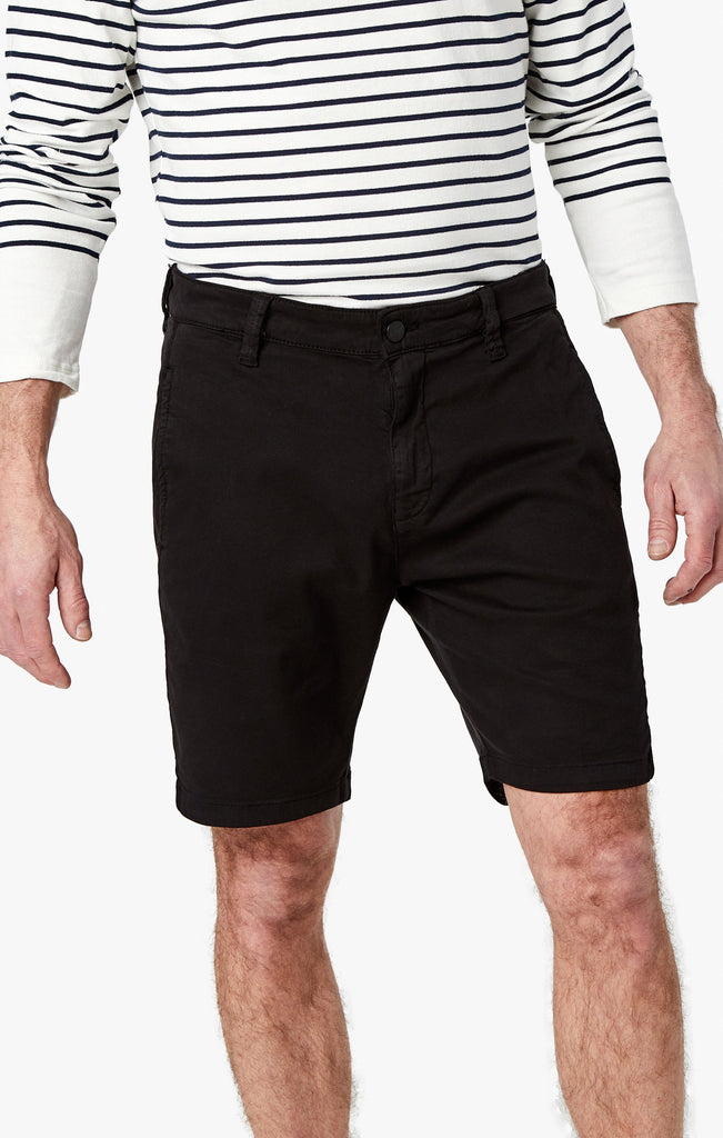 Nevada Shorts In Black Soft Touch - 34 Heritage