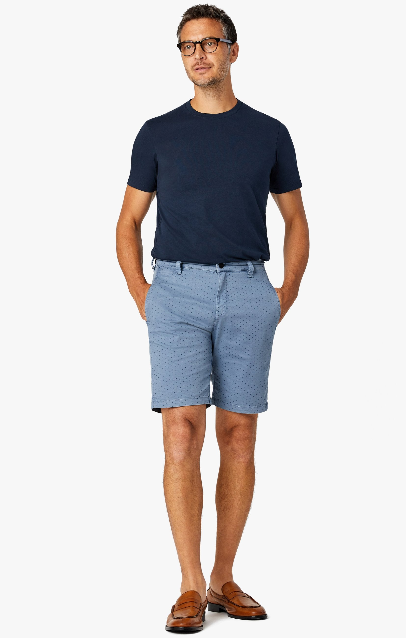 Arizona Slim Shorts in Blue Fancy Image 7