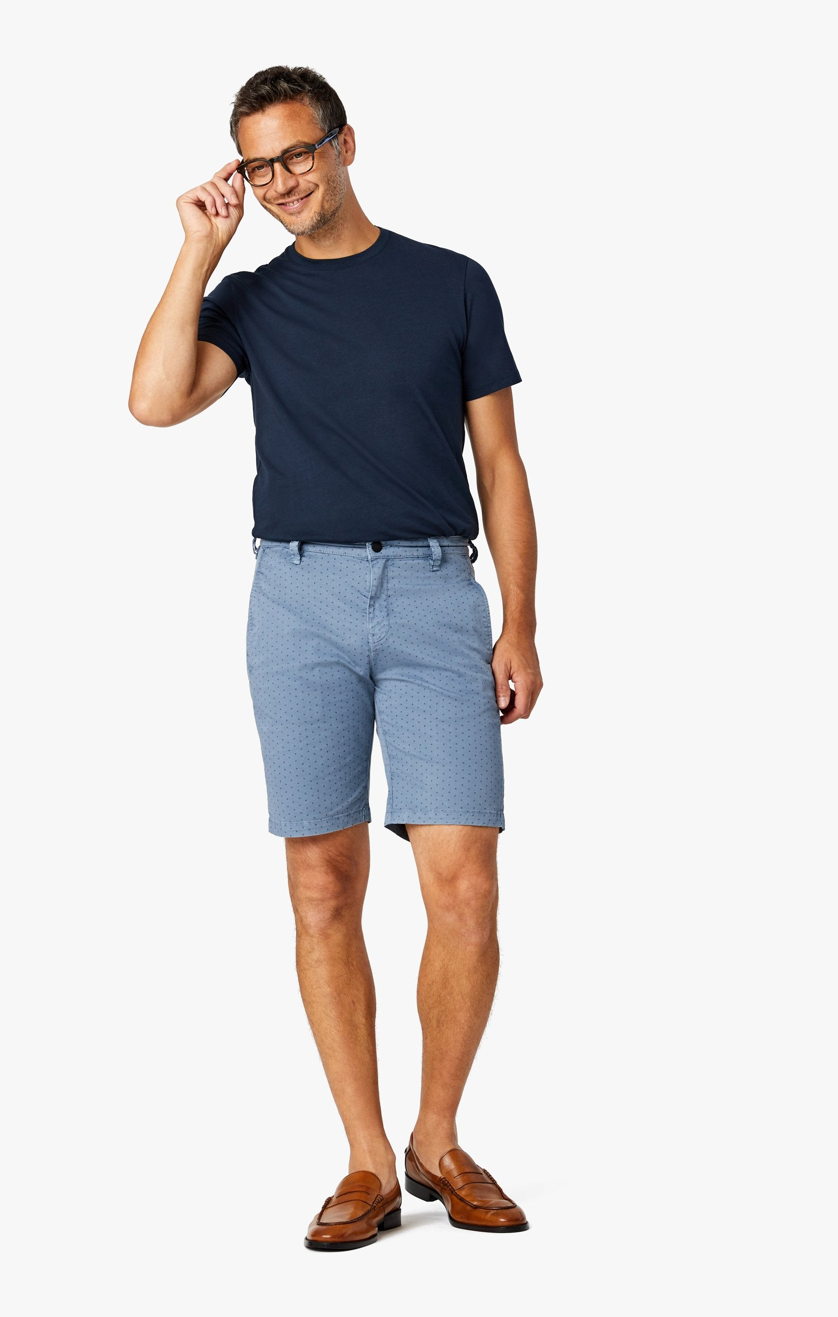 Arizona Slim Shorts in Blue Fancy Image 1