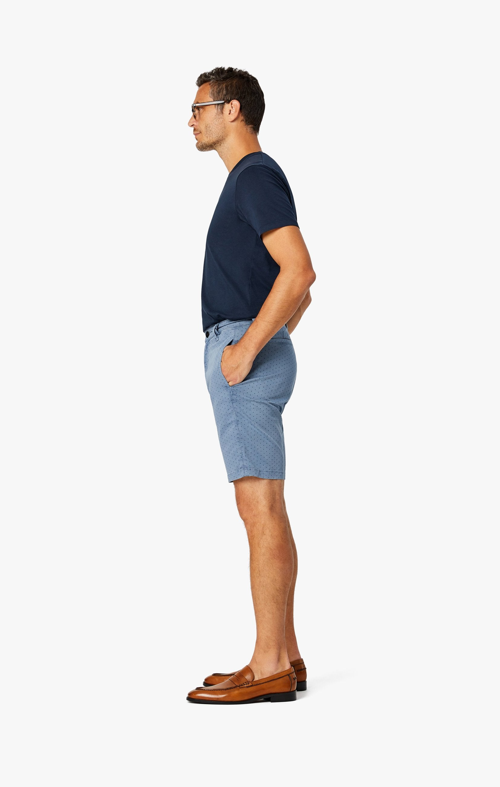 Arizona Slim Shorts in Blue Fancy Image 6