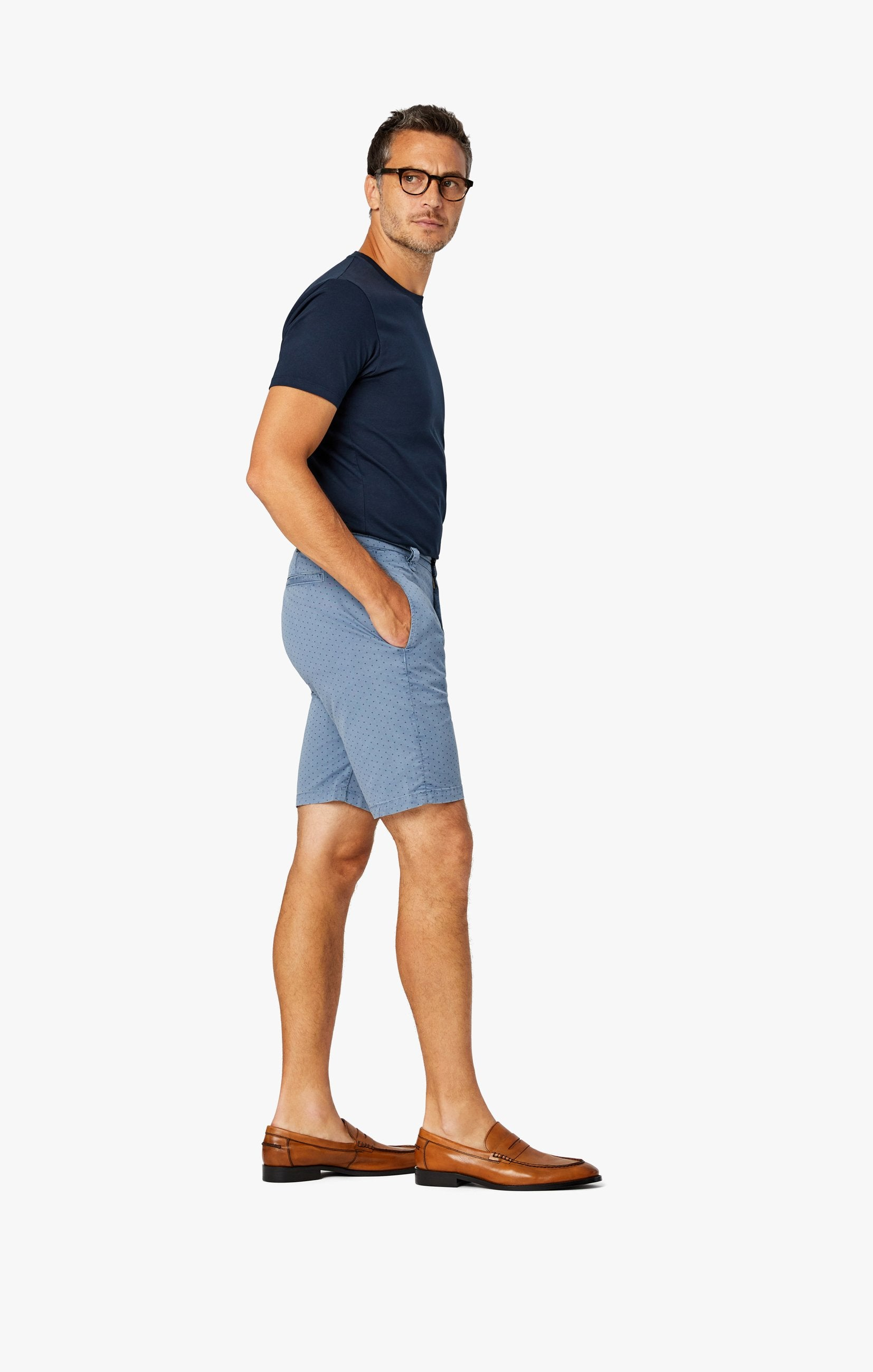 Arizona Slim Shorts in Blue Fancy Image 5