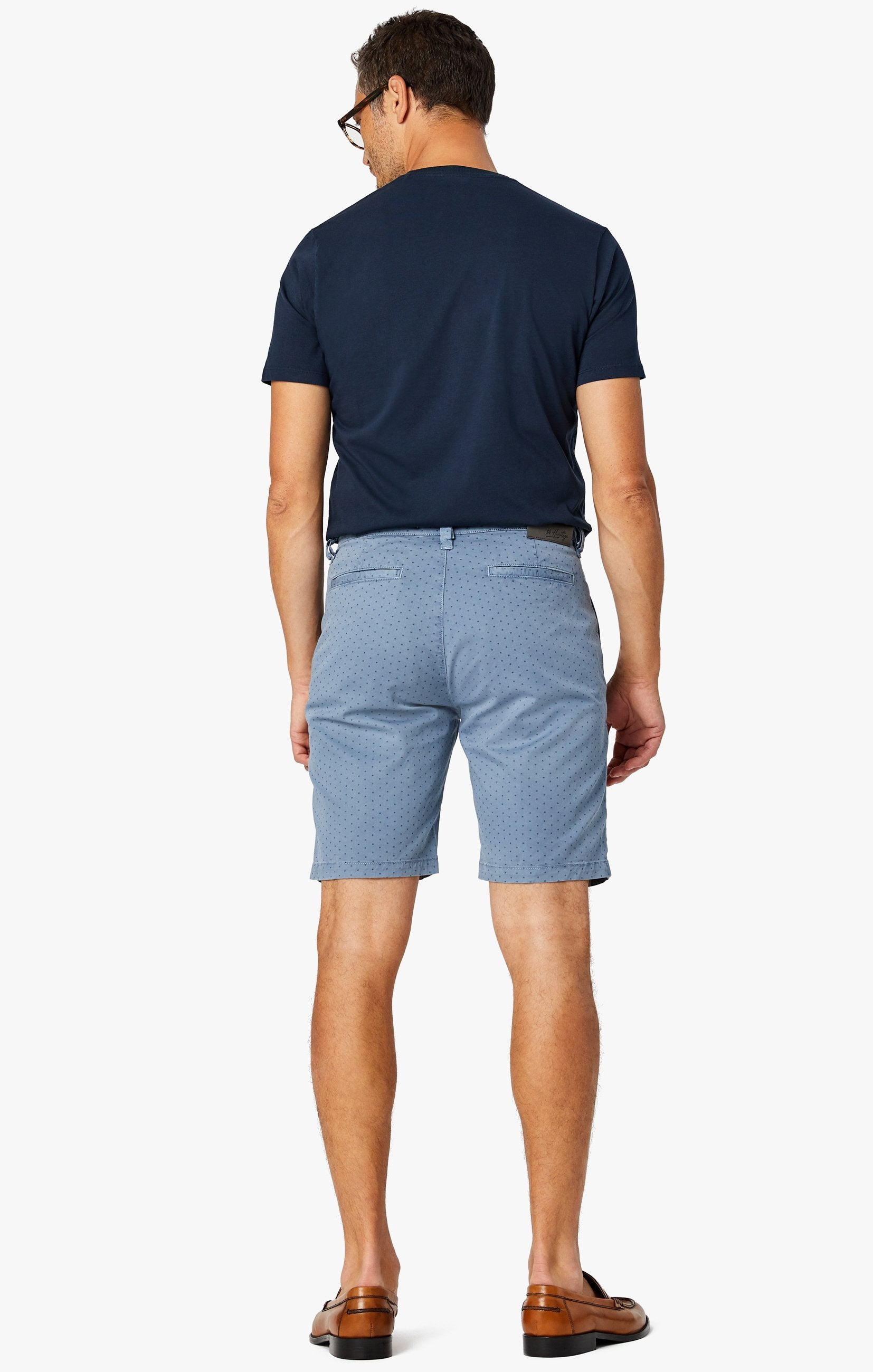 Arizona Slim Shorts in Blue Fancy Image 4
