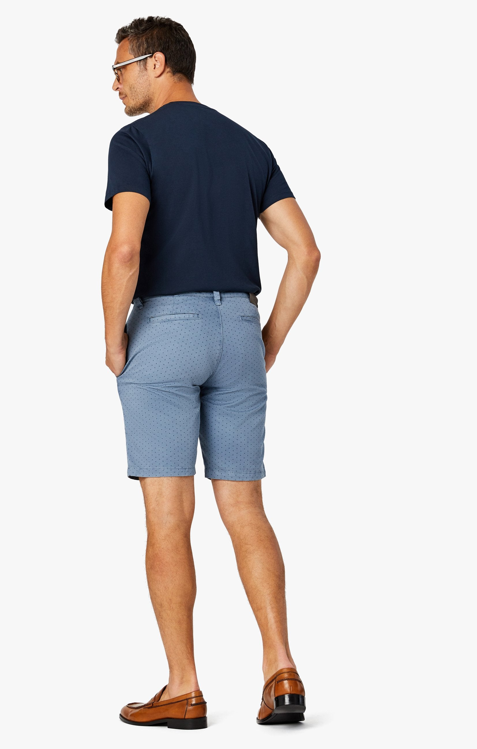 Arizona Slim Shorts in Blue Fancy Image 9