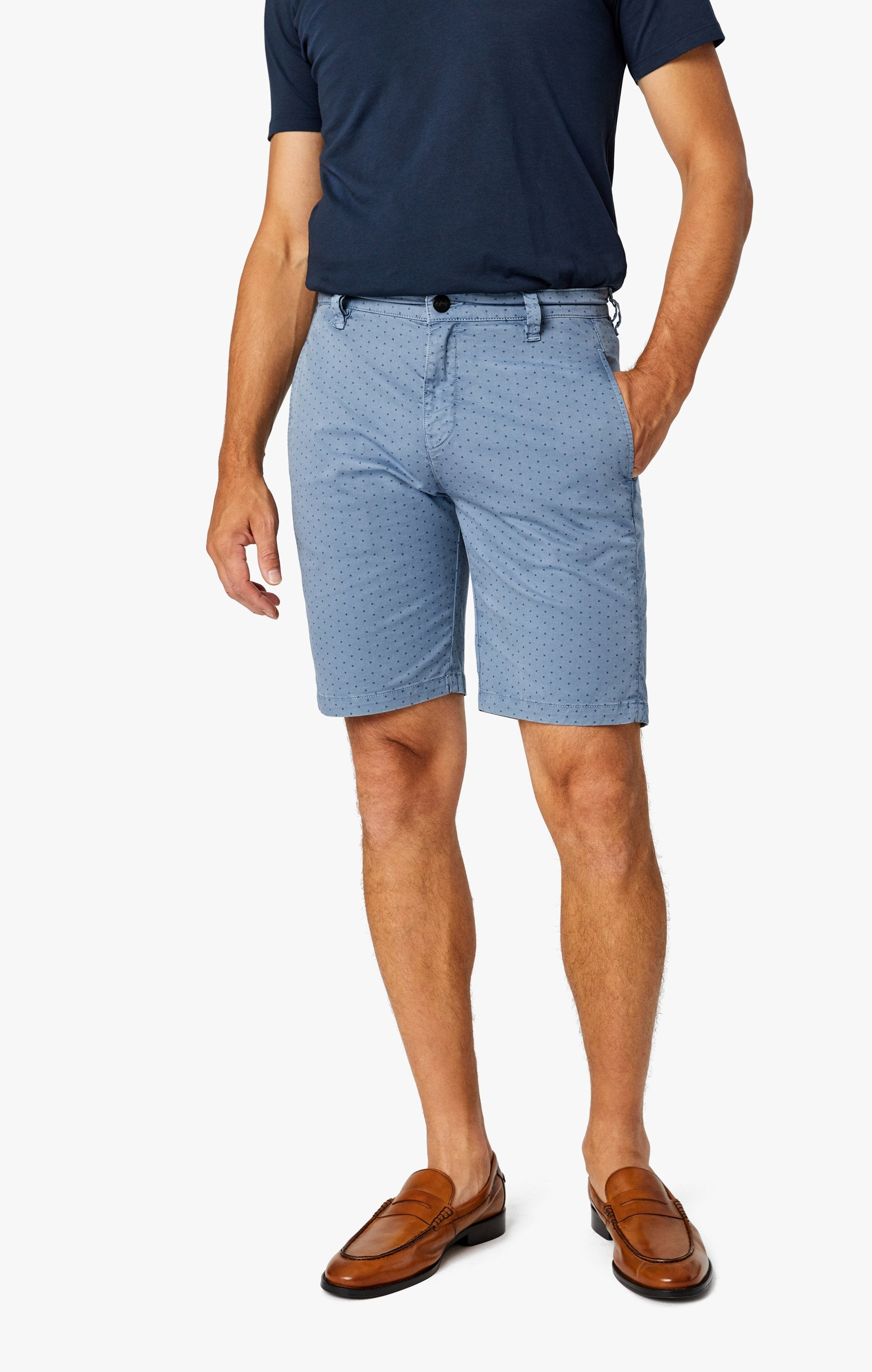 Arizona Slim Shorts in Blue Fancy Image 3