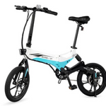 "Swagtron EB7WHT 16"" Folding Electric Bike - White"
