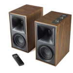 Klipsch The Fives Walnut Powered Bookshelf Speaker System (Pair) - 1067562