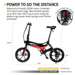 "Swagtron EB7BLK 16"" Folding Electric Bike"