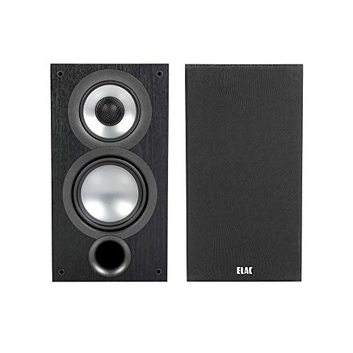 ELAC Uni-Fi 2.0 UB52 Bookshelf Speakers (Pair), Black (UB52-BK)