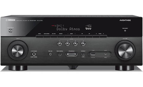 Yamaha AVENTAGE RX-A780 7.2-channel home theater receiver with Wi-Fi®, Bluetooth®, and Amazon Alexa compatibility