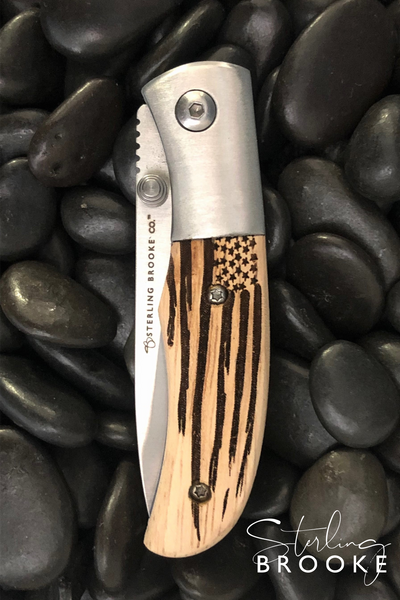 Classic Small Pocket Knife | American Flag