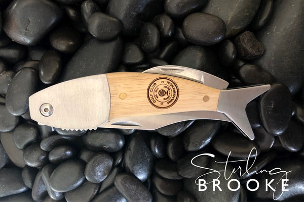 Coastal Large Pocket Knife | Golf Emblem