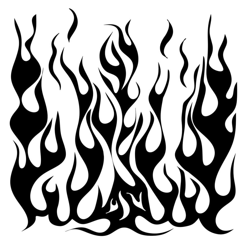 "Crafter's Workshop Template 6""X6"" Mini Flames"
