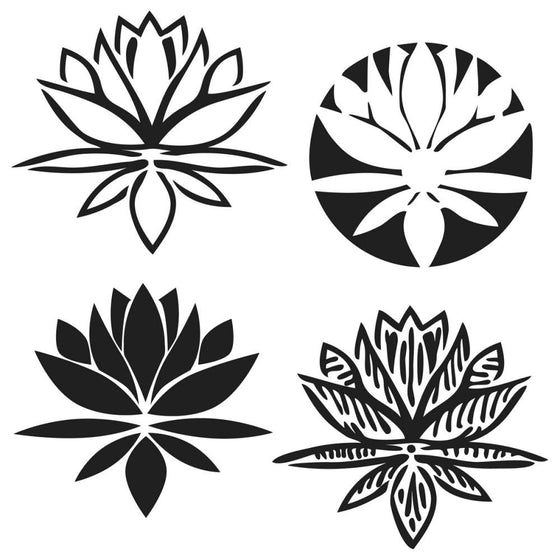 "Crafter's Workshop Template 6""X6"" Lotus Blossom"