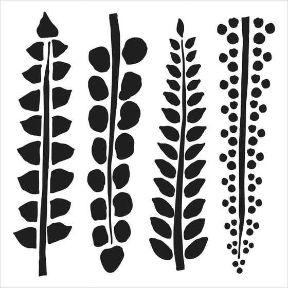 "Crafter's Workshop Template 6""X6"" 4 Ferns"