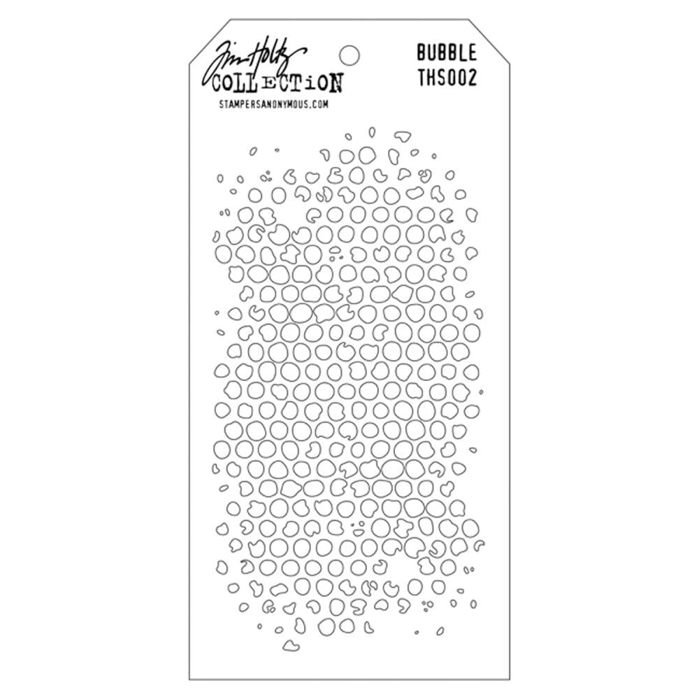 "Tim Holtz Collection Layered Stencil 4.125""X8.5"" - Bubble"
