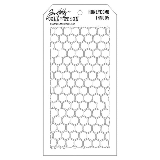 "Tim Holtz Collection Layered Stencil 4.125""X8.5"" - Honeycomb"