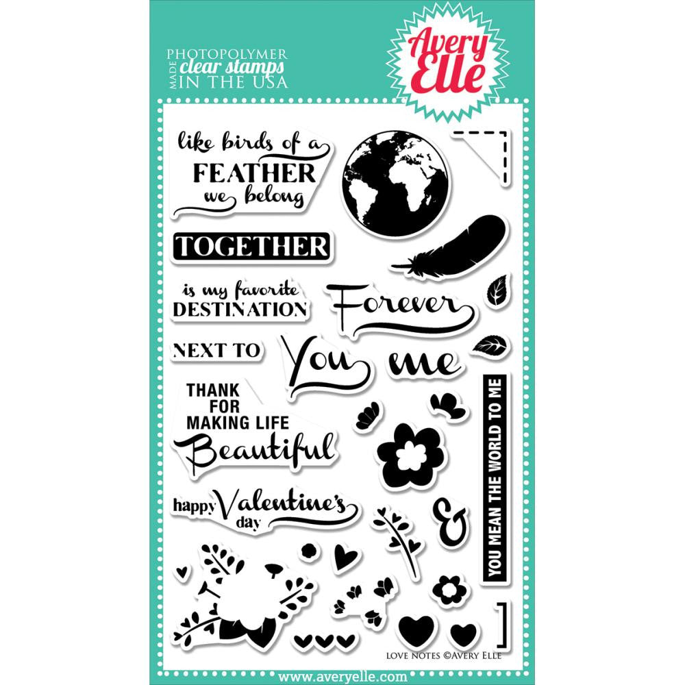 Avery Elle Clear Stamps - Love Notes