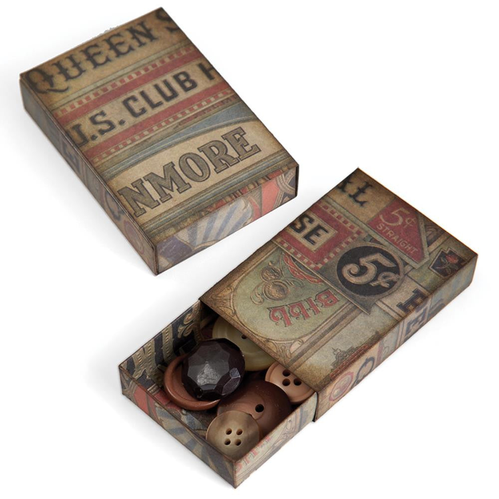 "Sizzix Movers & Shapers Large Base Die By Tim Holtz 6""X8.75"" Matchbox"