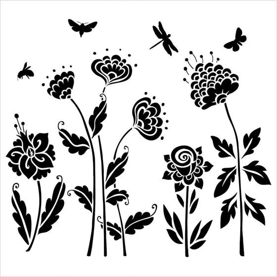 "Crafter's Workshop Template 6""X6"" Flying Garden"