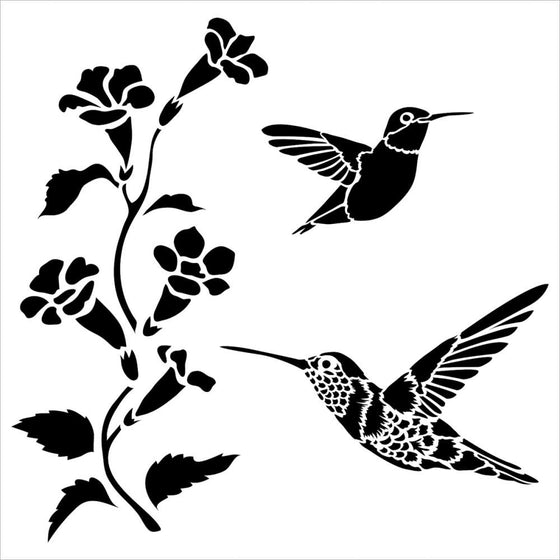 "Crafter's Workshop Template 6""X6"" Hummingbirds"